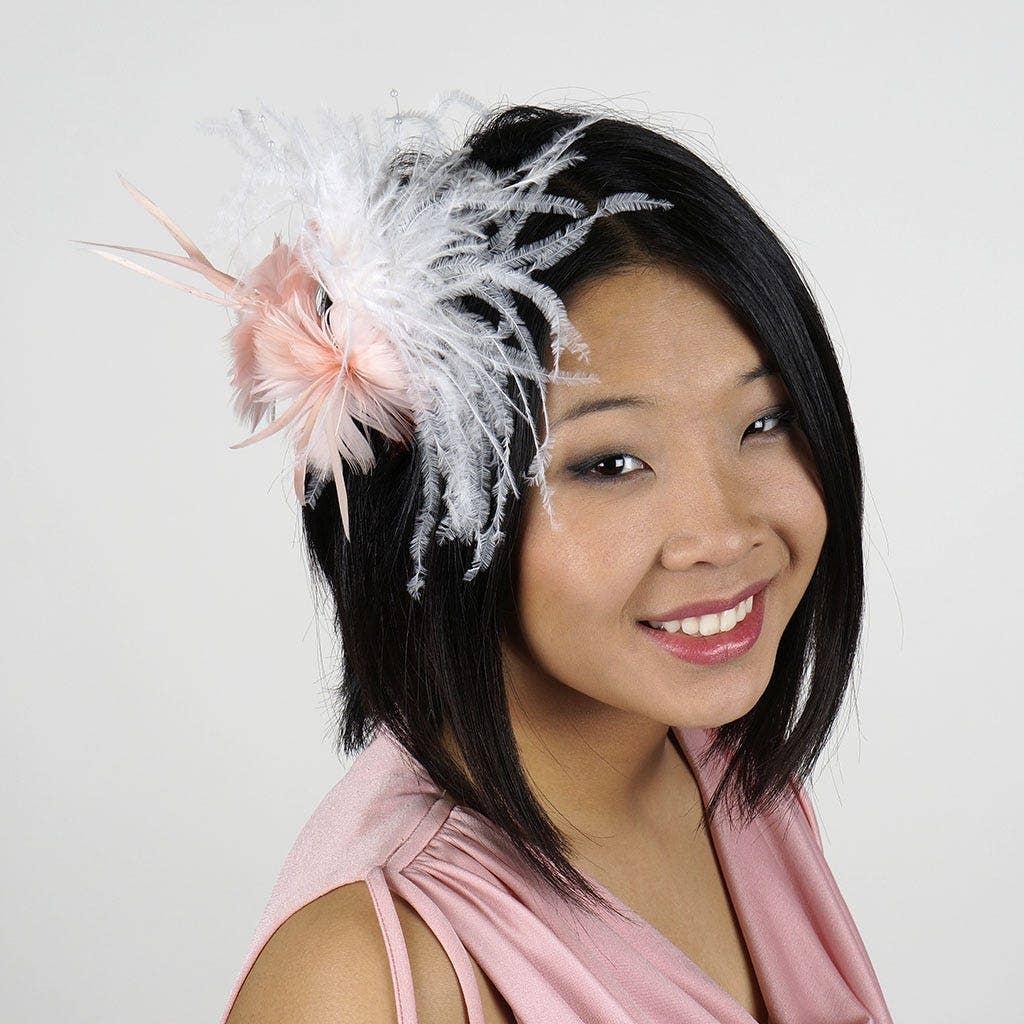 Ostrich Feather DIY Hairpiece