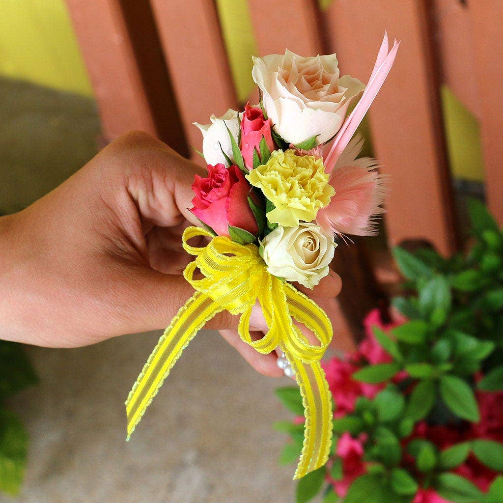 Feather Floral Corsage