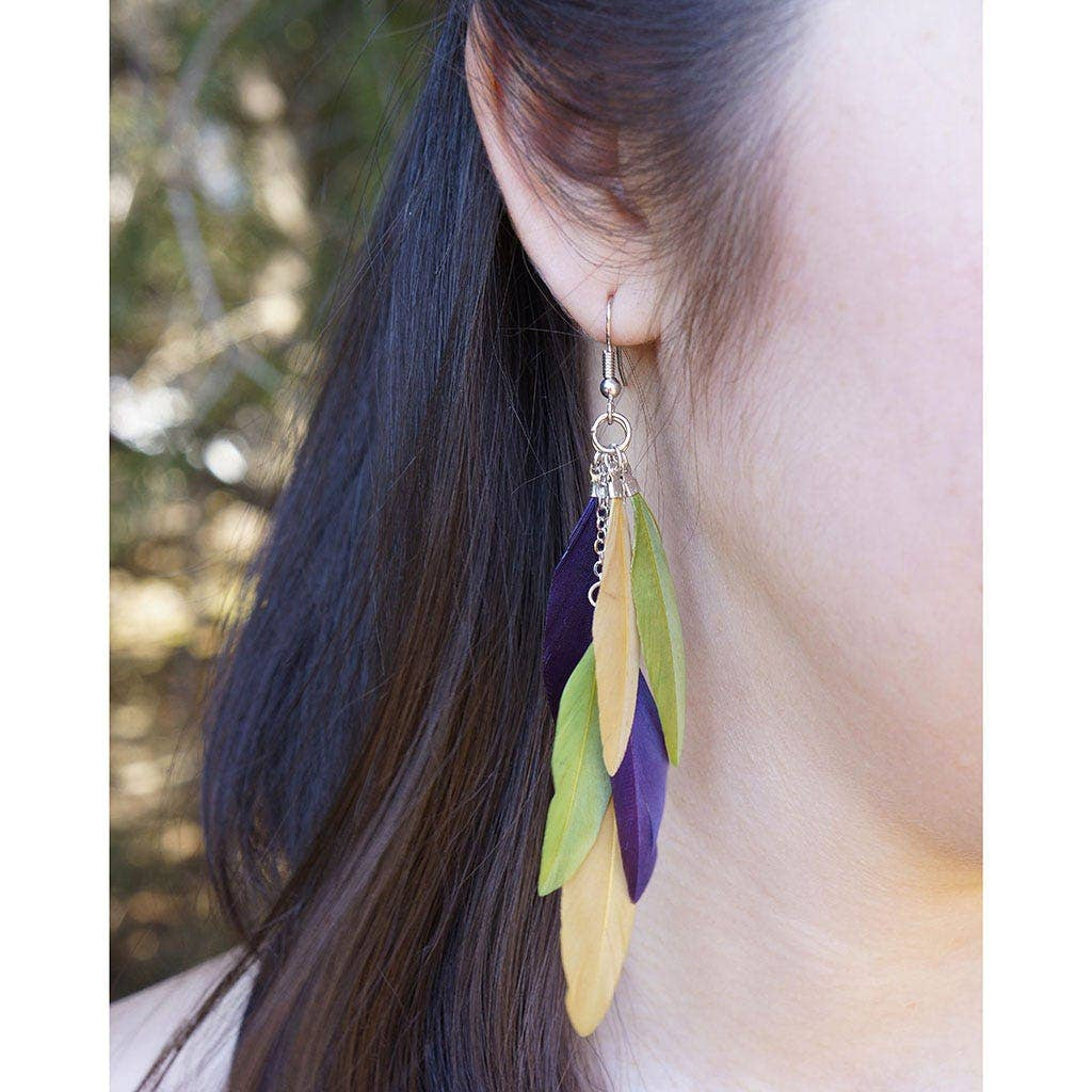 Feather Earrings Natural