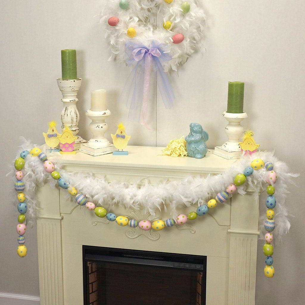 Spring Easter Boa Garland